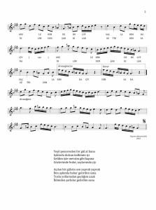 Sûzinâk şarkı-Yeşil pencereden bir gül at 2