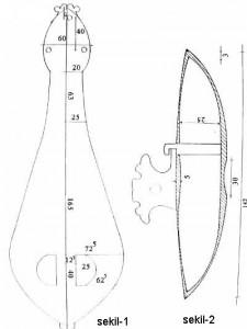 3 Telli Klasik Kemençe ölçüleri