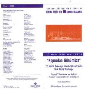2000-Tarihi Türk Müziği Topluluğu ile