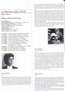 2001-Ankara Bilkent Orkestrası ile