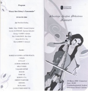 2004-Hacettepe Senfoni ile